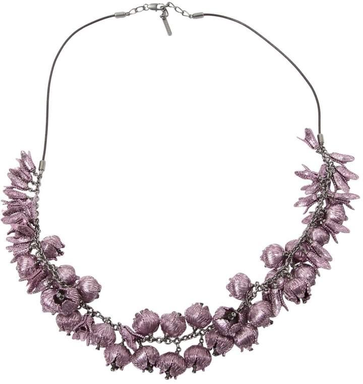 Burberry Purple Metal Necklace