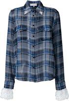 Preen by Thornton Bregazzi cuff detail plaid shirt