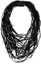 Maria Calderara multi-layered crystal embellished necklace
