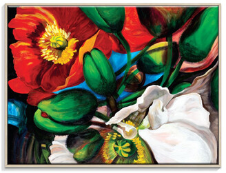 Artist Lane Singing Poppies Canvas Print With Frame