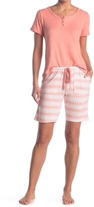 Izod Top & Bermuda Shorts Pajama Set