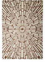 Jonathan Adler Chocolate Sunburst Hand-Knotted Rug