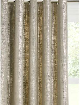 John Lewis & Partners Metallic Velvet Pair Lined Eyelet Curtains