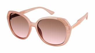 Nanette Lepore Nanette by Women's NN296 Geometric Glittered Sunglasses with 100% UV Protection