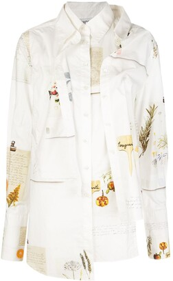 Monse Botanical Journal deconstructed layered shirt