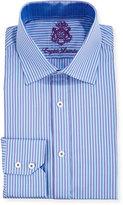 English Laundry Striped Long-Sleeve Dress Shirt, Purple/Blue