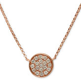 Trio by EFFY Diamond Pave Disc Pendant in 14k Rose Gold (1/4 ct. t.w.)