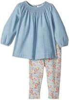 Ralph Lauren Chambray Top Floral Leggings Girl's Active Sets