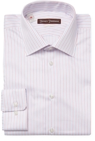 Hickey Freeman Stripes Classic Fit Dress Shirt