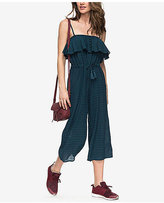 Roxy Juniors' Ruffled Drawstring-Waist Jumpsuit