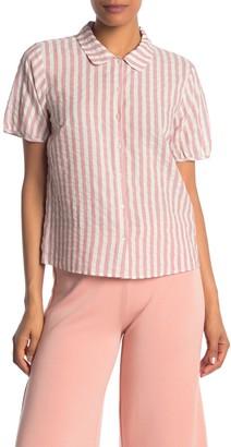 Velvet by Graham & Spencer Stripe Woven Shirt
