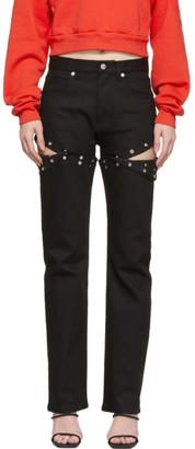 Alyx Black Convertible Harlequin Jeans