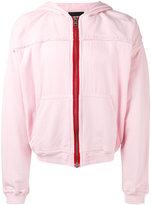 Haider Ackermann zip hoodie - men - Cotton/Spandex/Elastane - XS