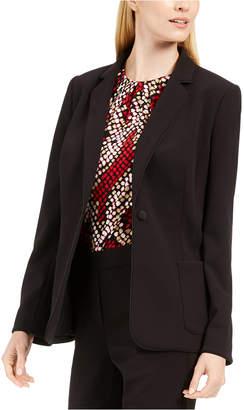 Calvin Klein Piped-Trim Tuxedo Blazer