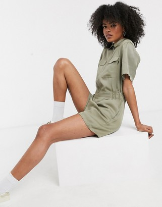 Dr. Denim utility playsuit