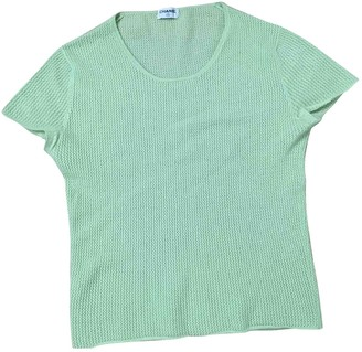 Chanel Green Cashmere Tops