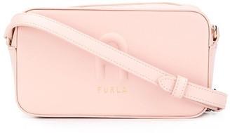 Furla Logo Embossed Crossbody Bag