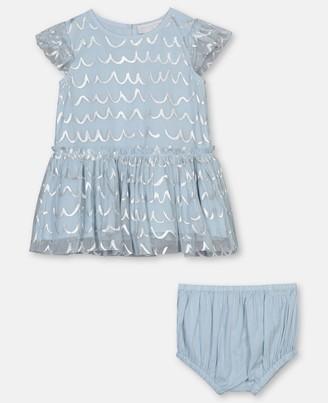 Stella Mccartney Kids Shell Foil Tulle Dress, Unisex