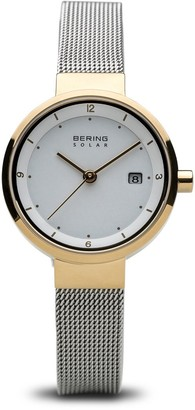 Bering Women's Analogue Solar Powered Watch with Stainless Steel Strap 14426-010