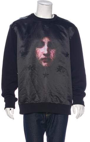 Givenchy Madonna Star Satin Sweatshirt
