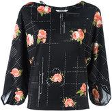 Chalayan string neck blouse - women - Cotton/Spandex/Elastane - S