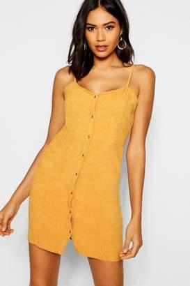 boohoo Popper Front Cord Dress