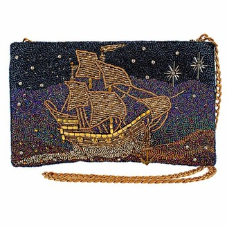 Mary Frances Disney's Peter Pan Think Happy Thoughts Beaded Pirate Ship Handbag
