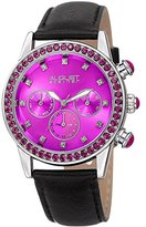 August Steiner Women's Quartz Stainless Steel and Leather Casual Watch, Color:Black (Model: AS8236PK)
