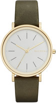 Skagen Women's Hald Green Leather Strap Watch 34mm SKW2491