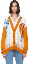Lanvin Orange Babar Edition Wool and Silk Cardigan