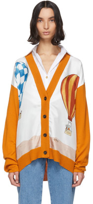 Lanvin Orange Babar Edition Wool and Silk Cardigan