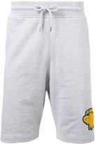 Love Moschino - logo patch track shorts - men - Cotton/Spandex/Elastane - L