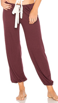 Eberjey Heather Cropped Pant in Wine. - size L (also in M,S)