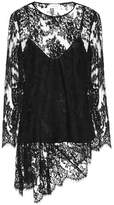 Zimmermann Asymmetric silk lace top
