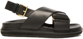 Marni Leather Fussbett Sandals