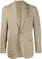 Lardini textured single-breasted blazer