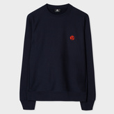 Paul Smith Men's Navy Embroidered PS Logo Organic-Cotton Sweatshirt