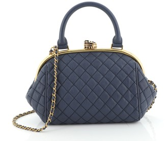 Chanel Paris-Rome Colosseum Lock Frame Bowling Bag Quilted Calfskin Small