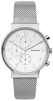 Skagen Skw6361 Ancher Chronograph Bracelet Strap Watch, Silver/white