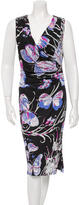 Emilio Pucci Ruched Butterfly Print Dress w/ Tags