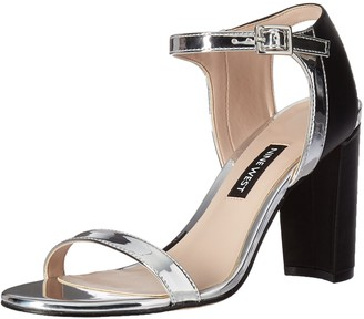 Nine West Women's NEMBLE Synthetic Heeled Sandal