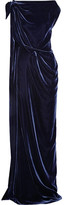Roland Mouret Silvabella Draped Velvet Gown - Midnight blue
