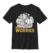 Fifth Sun Boys' Tee Shirts BLACK - The Lion King Black 'No Worries' Crewneck Tee - Boys