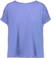 Kain Label Winnie wrap-effect textured-cotton and cotton-jersey top