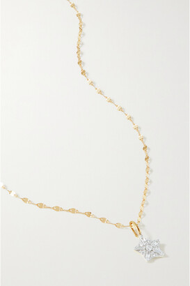 STONE AND STRAND Starbright Gold Diamond Necklace - one size