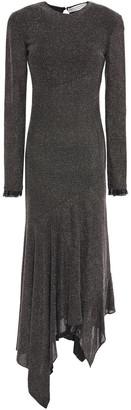 Philosophy di Lorenzo Serafini Asymmetric Embellished Metallic Jersey Dress