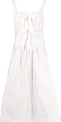 Philosophy di Lorenzo Serafini Sleeveless Pinstripe Dress