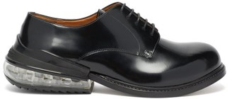 Maison Margiela Air Bubble Leather Derby Shoes - Mens - Black
