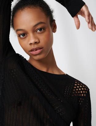 Maje Lightweight decorative knit jumper