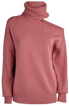 Paige Raundi Cut-Out Rollneck Sweater